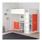 Кровать на мезонине IKEA STUVA / FRITIDS 207x99x182 см белый красный 792.579.31, фото 3