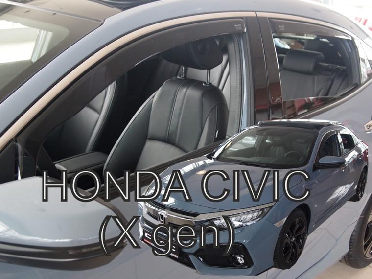 Дефлекторы окон (ветровики) Honda Civic 2015- 4D  4шт (Heko)