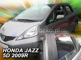 Дефлекторы окон (ветровики)  HONDA JAZZ - 5d 2008-2013 (HEKO)