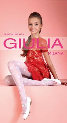 Колготки белые для девочек с узором Milana 40 (2) Giulia, разные цвета, фото 2