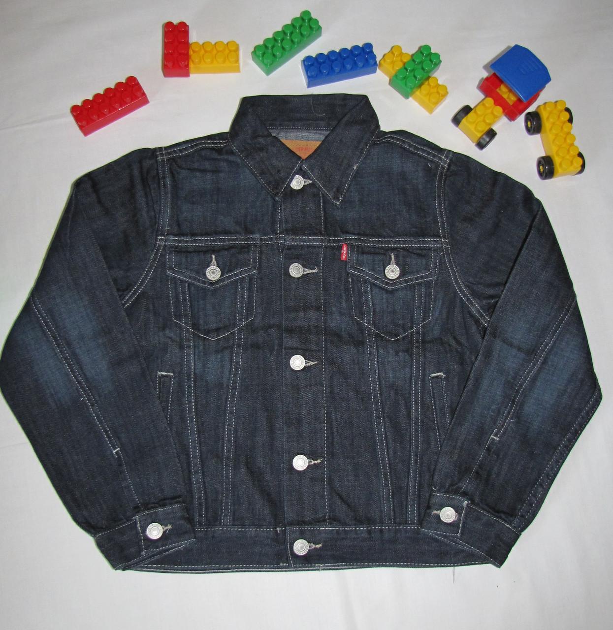 Джинсовая куртка Levi's оригинал рост 128 см черная 07024