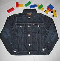 Джинсовая куртка Levi's оригинал рост 128 см черная 07024, фото 1