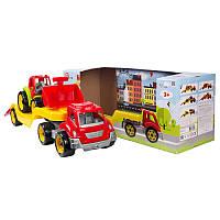 Игрушка Машина Автовоз с трактором 64 × 21 × 24 см, Технок 3916