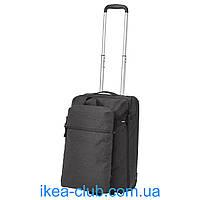 Чемодан на колесах и рюкзак IKEA ФОРЕНКЛА 203.281.67 темно-серый