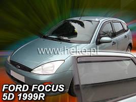 Дефлекторы окон (ветровики) Ford Focus 4/5D 1998-2004 4шт (Heko) sedan/htb