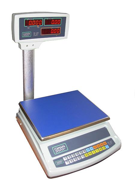 Торговые весы со стойкой ВТЕ-Центровес-6-Т2-СМ до 6 кг