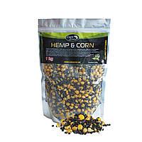 Готовая конопля и кукуруза CarpZone Hemp & Corn 1kg
