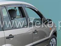 Дефлекторы окон (ветровики) Ford Fusion 2002 -> 5D 4шт (Heko)
