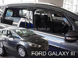 Дефлекторы окон (ветровики) Ford Galaxy 2015 -> 5D  4шт (Heko)