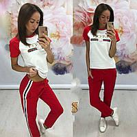 Женский спортивный костюм под Гуччи красный