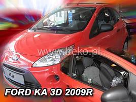 Дефлекторы окон (ветровики) Ford Ka 3D 2009R-> 2шт (Heko)