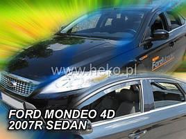 Дефлектори вікон (вітровики) Ford Mondeo 4D 2007 -2013 4шт (Heko))SEDAN,HTB