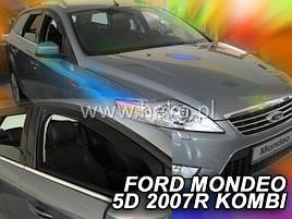 Дефлекторы окон (ветровики) Ford Mondeo 5D 2007 -2013 Combi 4шт (Heko)