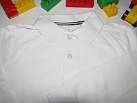 Футболка поло с длинными рукавами школьная форма Chap's оригинал рост 128 см белая 07036, фото 1