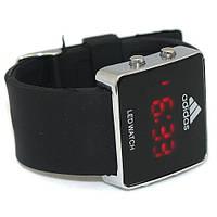 Часы спортивные adidas led watch, светодиодные, унисекс, время / дата, каучуковый ремешок, латунный корпус