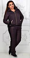 Костюм женский на синтепоне батал  вал1012, фото 1