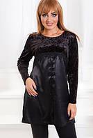 Женская блузка бархатная батал по 56 размер  ат1180, фото 1