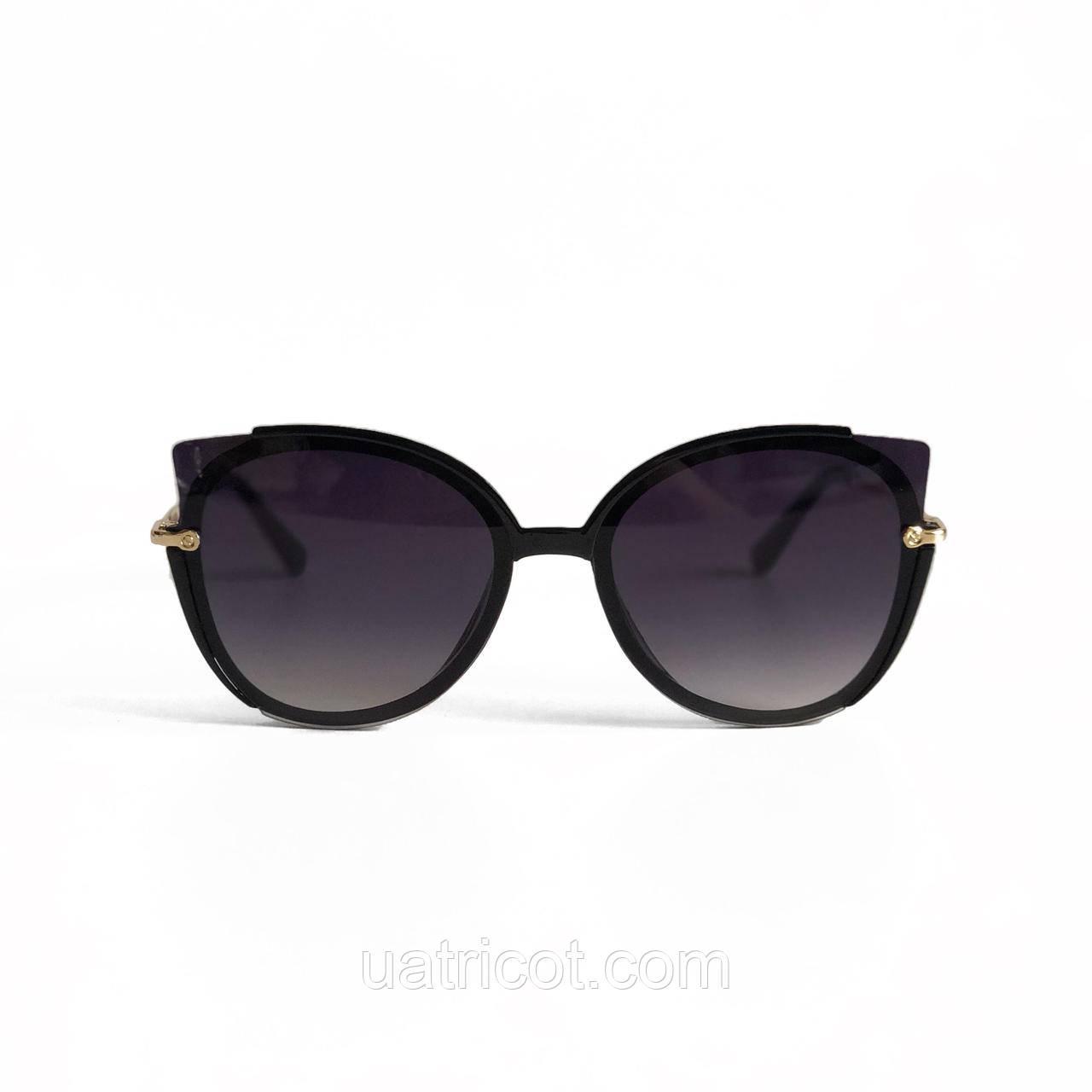 Женские солнцезащитные очки кошки с чёрными линзами