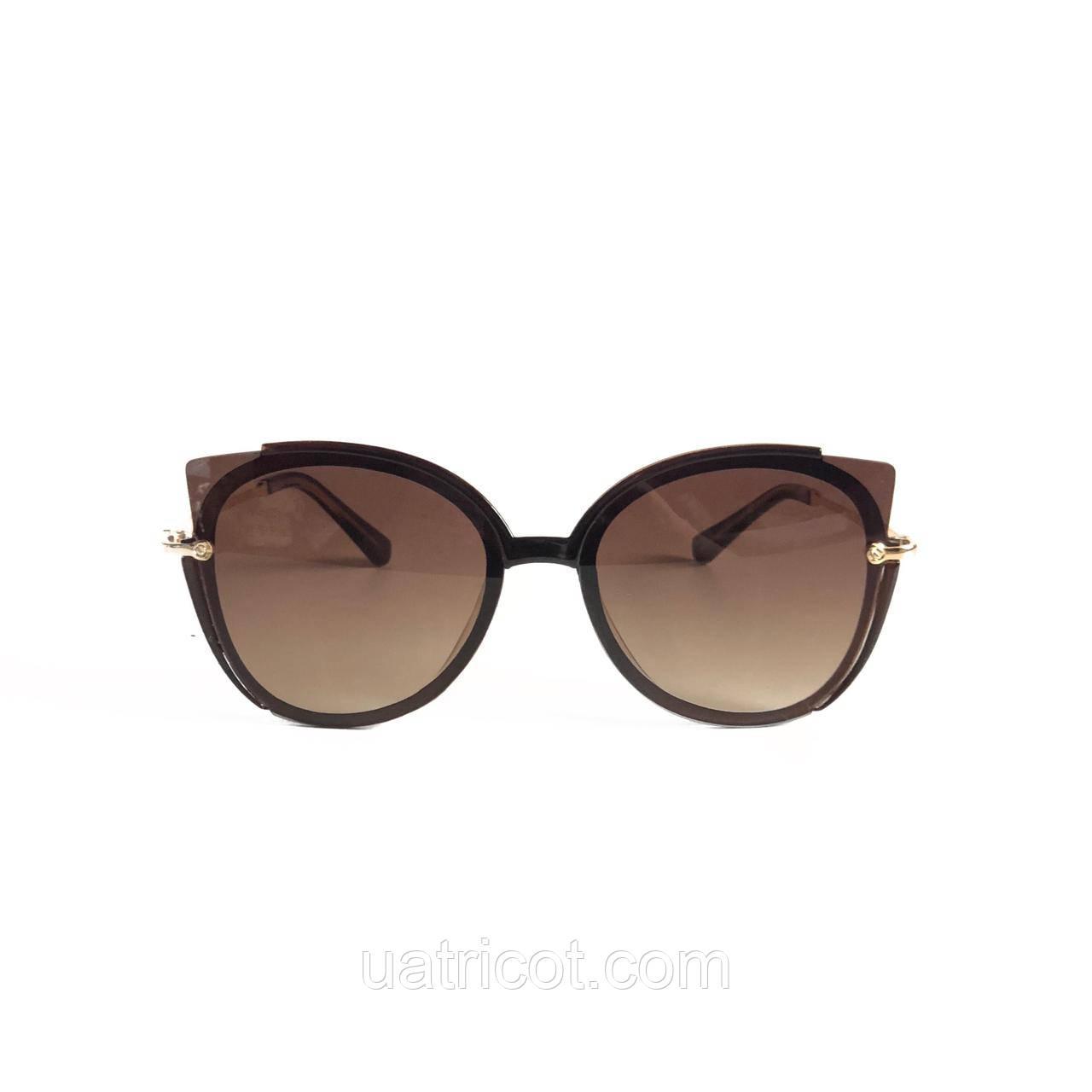Женские солнцезащитные очки кошки с коричневыми линзами