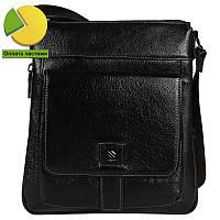 8249fc32d813 Качественная повседневная мужская кожаная сумка через плечо черная High  Touch HT007882-31