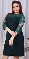 Платье женское с вышивкой батал  гул963, фото 1