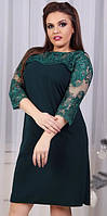 Платье женское с вышивкой батал  гул963