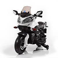Мотоцикл детский M 3630 EL-1, 2 мотора 25W, аккум 12V/7A, колеса EVA, сидение.кож, белый