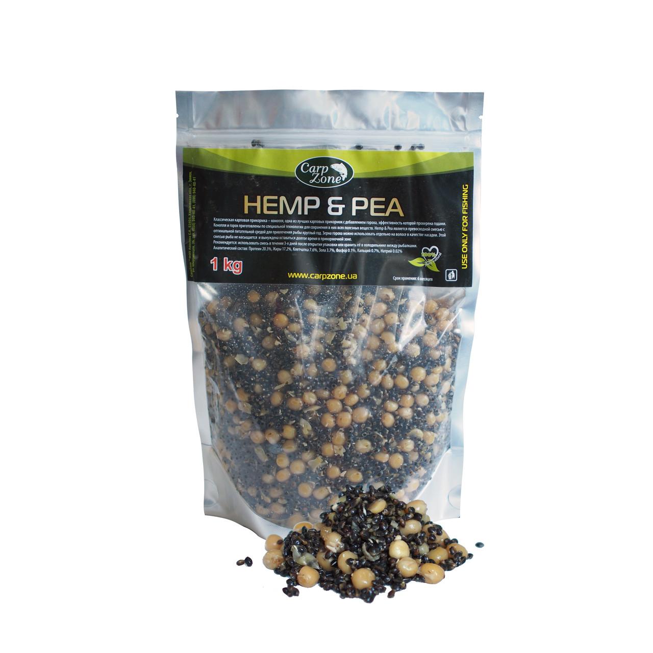 Готовая конопля и горох Hemp & Pea 1kg