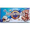 Шоколад Studentska Pecet молочный с кокосом и арахисом, 180 грамм