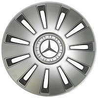 Колпаки серые REX R15 с логотипом Mercedes