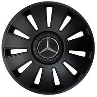 Колпаки черные REX R15 с логотипом Mercedes