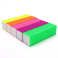 Баф для ногтей 4-х сторонний, цветной, фото 1