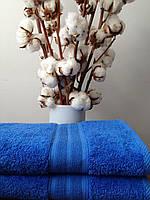 Махровое полотенце 70х140, 100% хлопок 500 гр/м2, Пакистан, Синий, Без борда