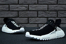 Мужские кроссовки AD x Pharrell Williams Human Race NMD black/White. ТОП Реплика ААА класса., фото 2