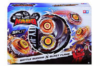 Волчок Auldey Infinity Nado Сплит Battle Buddha и Blast Flame с устройством запуска YW624601