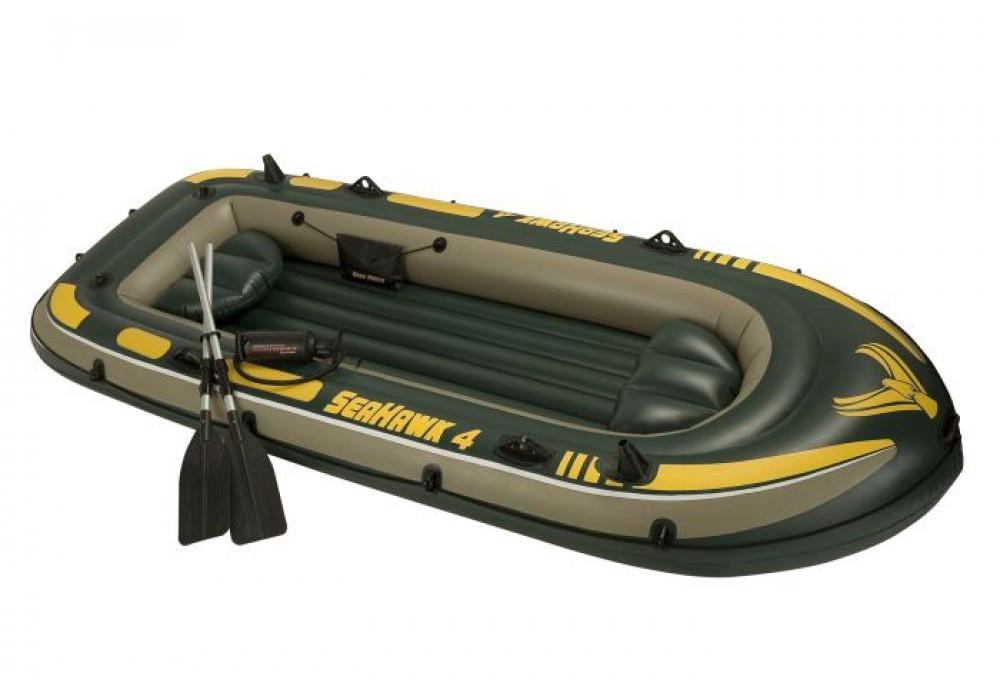 Надувная 4-х местная лодка SeaHawk 4 Set INTEX, 68351