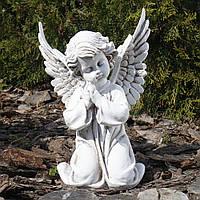 Садовая скульптура Ангел молящийся светящийся 30 см