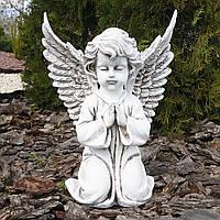 Садовая скульптура Ангел большой светящийся 35 см