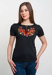 Жіноча футболка з оригінальною вишивкою