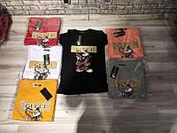 Стильная футболка женская нарядная оптом в ассортименте,разные рисунки