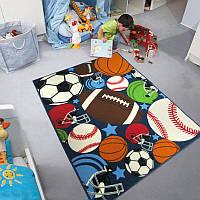 Коврик для детской комнаты для мальчика Мячи Balls 100 х 130 см Berni  - вызовет восторг у Вашего сыночка