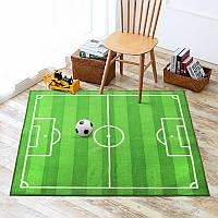 Коврик для детской комнаты для мальчика футбольное поле зеленый Socker 100 х 130 см Berni
