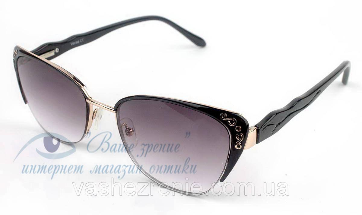 Очки женские для зрения, с диоптриями +/-, солнцезащитные Код:2108