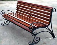 Кованая садовая лавочка (скамейка) 1