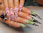 Акриловая лепка для ногтей.