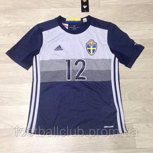 Adidas Sweden Kids SS Away Shirt 2016, фото 2