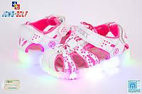 Детские босоножки для девочки с подсветкой, 26-31