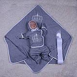 """Летний набор на выписку """"Queen"""", серый, фото 8"""