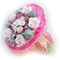 Букет из мягких игрушек Мишки Тэдди 5 розовый, фото 1