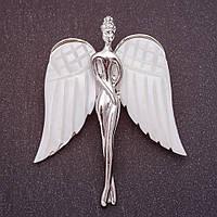 Брошь Ангел с натуральным перламутром